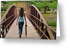 Just Walk Away Renee Greeting Card by Laura Fasulo
