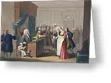 Justice Triumphs, Illustration Greeting Card by William Hogarth