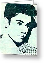 Justin Bieber In Blues Greeting Card by Lauranns Etab
