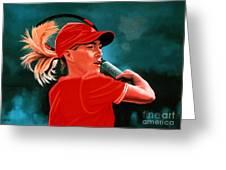Justine Henin  Greeting Card by Paul Meijering
