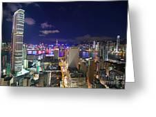 K11 In Tsim Sha Tsui In Hong Kong At Night Greeting Card by Lars Ruecker