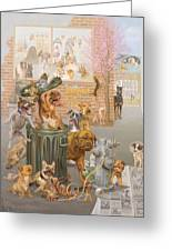 K9 Cuisine Greeting Card by Victor Powell