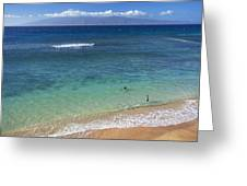 Kaanapali Ocean Aerial Greeting Card by Jenna Szerlag