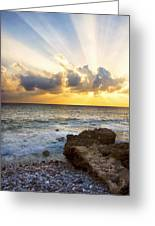 Kaena Point State Park Sunset 2 - Oahu Hawaii Greeting Card by Brian Harig