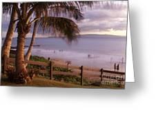 Kai Makani Hoohinuhinu O Kamaole - Kihei Maui Hawaii Greeting Card by Sharon Mau