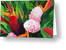 Kailua Farmer's Market Greeting Card by Luane Penarosa