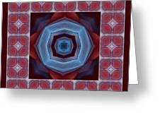 Kaleidoscope Combo 8 Greeting Card by Louise Lamirande