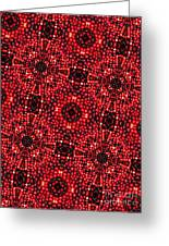 Kaleidoscope Cranberries Greeting Card by Amy Cicconi