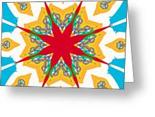 Kaleidoscope Fractal Greeting Card by Ester  Rogers