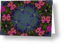 Kaleidoscope Lantana Wreath Greeting Card by Cathy Lindsey