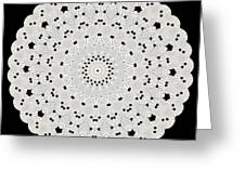 Kaleidoscope Of White Buttons Greeting Card by Becky Hayes