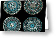 Kaleidoscope Steampunk Series Montage Greeting Card by Amy Cicconi