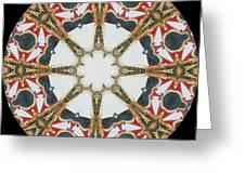 Kaleidoscope Wheel Greeting Card by Cathy Lindsey