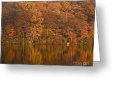 Kanawauke Lake Sundown Greeting Card by Susan Candelario