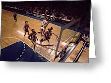 Kareem Abdul Jabbar Hook Shot  Greeting Card by Retro Images Archive
