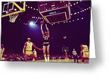 Kareem Jump Shot Greeting Card by Retro Images Archive