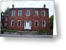 Karrick Parks House - Perryville Ky Greeting Card by Thia Stover