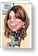 Kate Middleton. Duchess Of Cambridge Greeting Card by Daniel Byrne