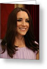 Kate Middleton Duchess Of Cambridge Greeting Card by Lee Dos Santos