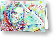 Kate Middleton Portrait.1 Greeting Card by Fabrizio Cassetta