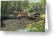 Kathleen May Chesterfield Canal Nottinghamshire Greeting Card by Richard Harpum