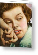Kathryn Hepburn Greeting Card by Studio Artist