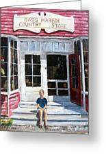 Katie At Bass Harbor Maine Greeting Card by Lee Piper