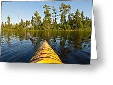 Kayak Adventure Bwca Greeting Card by Steve Gadomski