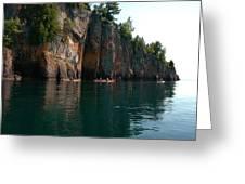 Kayaking By Shovel Point Greeting Card by Sandra Updyke