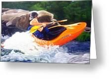 Kayaking Fun Greeting Card by Cireena Katto