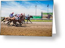 Keeneland Racing Greeting Card by Keith Allen