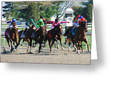 Keeneland Run Greeting Card by Mia Capretta