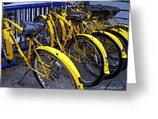 Kelley Island Bikes Greeting Card by Joan  Minchak