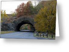 Kelly Drive Rock Tunnel In Autumn Greeting Card by Bill Cannon