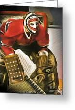 Ken Dryden Greeting Card by Mike Oulton