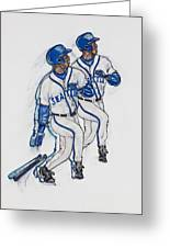 Ken Griffey Jr. Greeting Card by Suzanne Macdonald