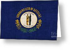 Kentucky State Flag Greeting Card by Pixel Chimp