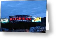 Ketchikan Greeting Card by Robert Bales