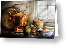 Kettle - Cherished Memories Greeting Card by Mike Savad