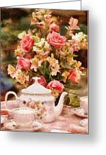 Kettle - More Tea Milady  Greeting Card by Mike Savad