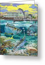 Key Largo Grand Slam Greeting Card by Carey Chen