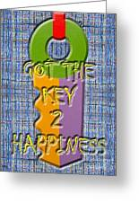 Key To Happiness Greeting Card by Patrick J Murphy