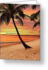Key West Beach Greeting Card by Marty Koch