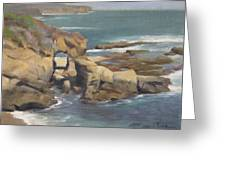 Keyhole Rock At The Montage Laguna Beach Greeting Card by Anna Bain