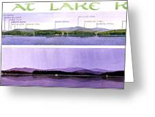 Kezar Lake View Greeting Card by Mary Helmreich