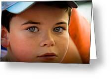 Kid's Blue Eye's Greeting Card by Sotiris Filippou