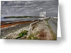 Kilbaha Village View Greeting Card by John Quinn