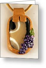 Kilnformed Glass And Polymer Clay Pendant Ss01111101 Greeting Card by P Russell