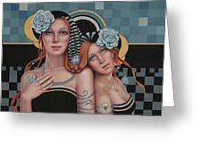Kindred Spirits Greeting Card by Susan Helen Strok