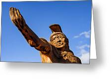 King Kamehameha Greeting Card by Carol Leigh